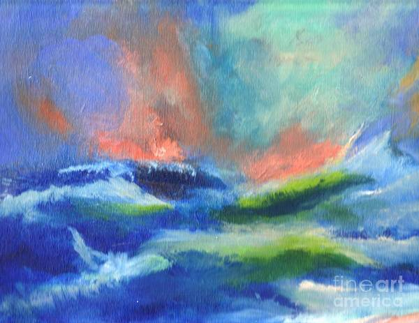 Wall Art - Painting - Stormy Seas At Hogs Head by Paul Thompson