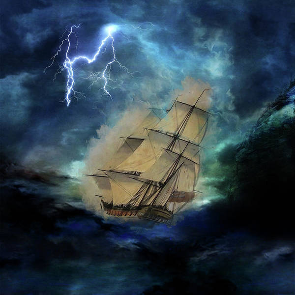 Digital Art - Stormy Seas by Marilyn Wilson