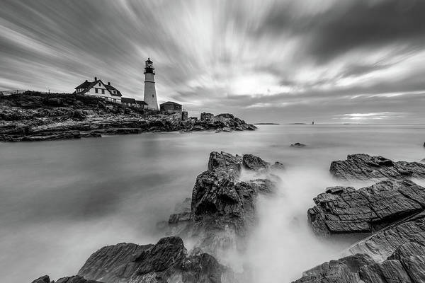 Photograph - Stormy Skies At Portland Head Light by Jesse MacDonald