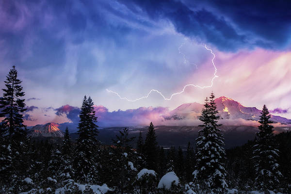 Wall Art - Photograph - Stormy Skies Over Mt. Shasta by Marnie Patchett