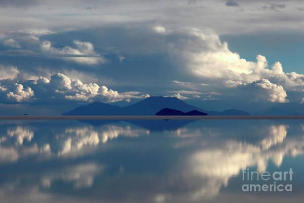 Photograph - Stormy Skies Over The Salar De Uyuni Bolivia by James Brunker