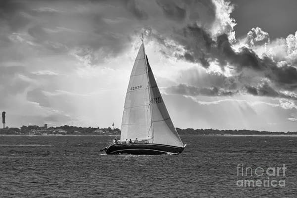 Photograph - Stormy Skies Sailing by Dale Powell