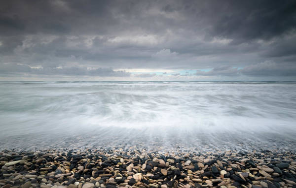 Outdoor Wall Art - Photograph - Stormy Sky And Wavy Ocean by Michalakis Ppalis