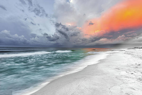 Photograph - Stormy Sunrise - Gulf Shores Alabama by Norman Peay