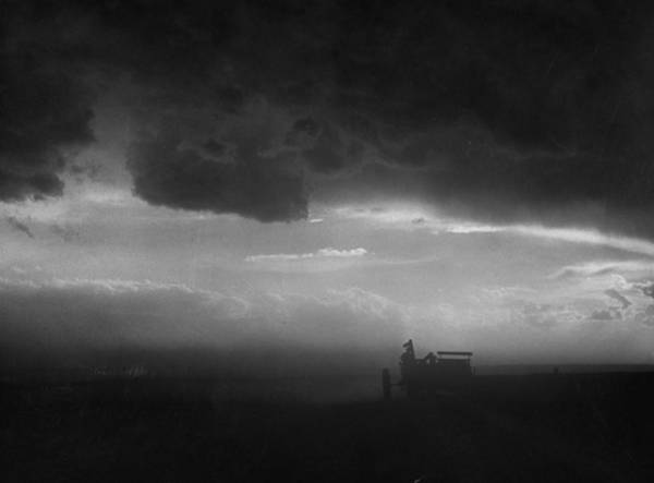 Ranch Photograph - Stormy Sunset Over Texas Ranch Land.  P by John Dominis