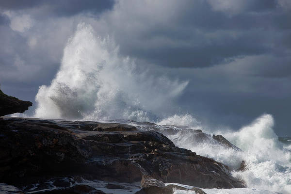 High Tide Photograph - Stormy Waves by Leicafoto