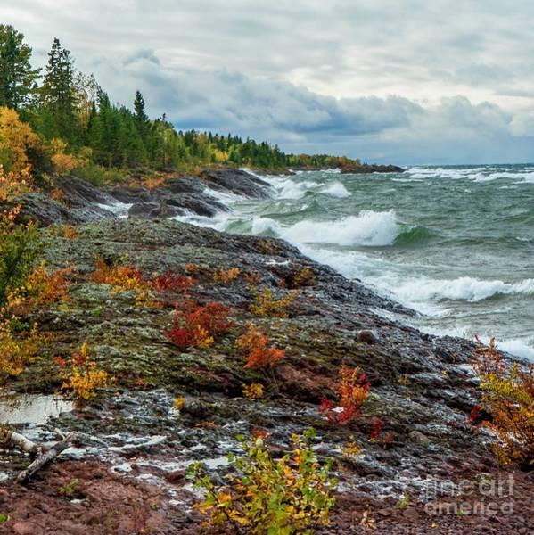 Photograph - Stormy Waves On Lake Superior by Susan Rydberg
