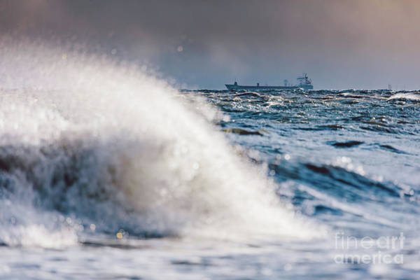 Wall Art - Photograph - Stormy Waves On The Sea. by Michal Bednarek