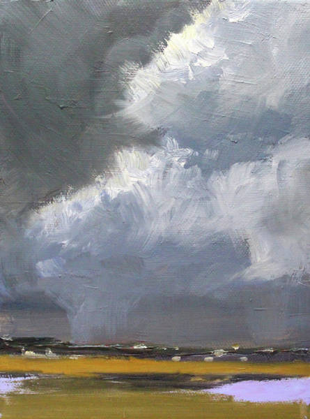 Wall Art - Painting - Stormy Weather by Nancy Merkle