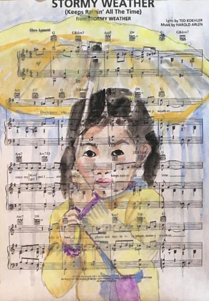 Wall Art - Painting - Stormy Weather by Susan Elizabeth Jones