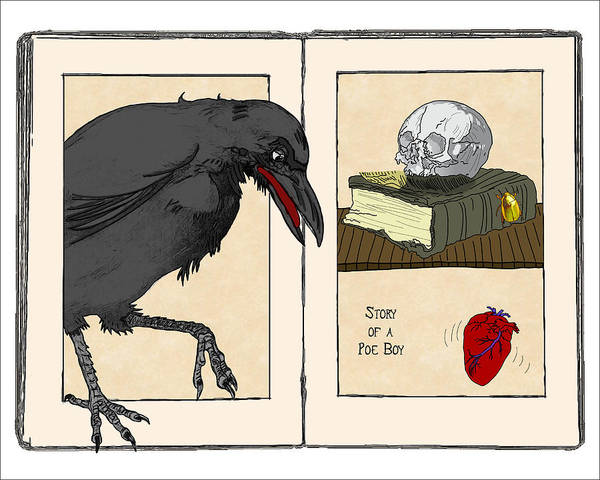 Wall Art - Digital Art - Story Of A Poe Boy by John Haldane