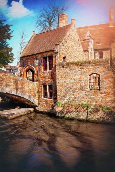 Cottage Style Wall Art - Photograph - Storybook Bruges Belgium  by Carol Japp