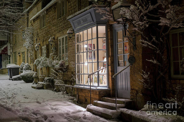 Wall Art - Photograph - Stow On The Wold Winter Street At Night by Tim Gainey
