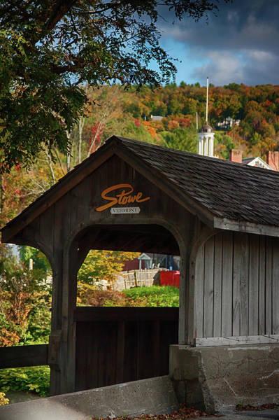 Photograph - Stowe Vermont Walking Bridge by Jeff Folger