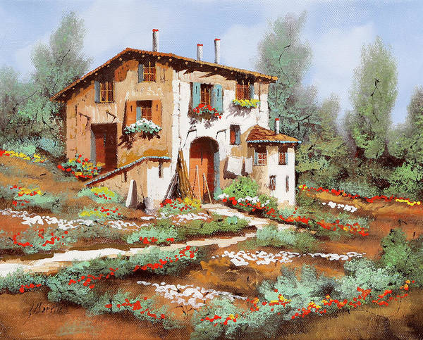Wall Art - Painting - Stradina Di Campagna by Guido Borelli