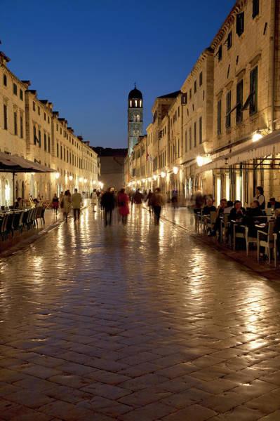 Dubrovnik Photograph - Stradun Street At Night In Dubrovnik by Martin Child