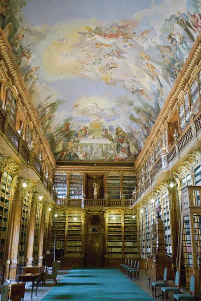 Ornate Photograph - Strahov Library, Prague, Czech Republic by Gavin Gough