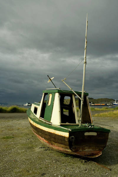 Wall Art - Photograph - Stranded Boat With Captain Missing by Polarlights