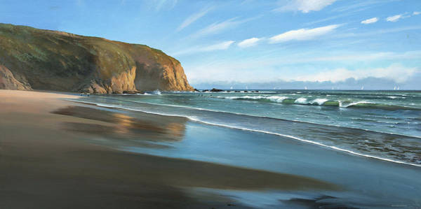 Painting - Strands Beach Dana Point Oil Painting by Cliff Wassmann