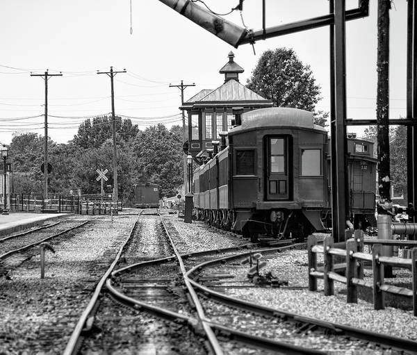 Wall Art - Photograph - Strasburg Railroad In Black And White by Bill Cannon