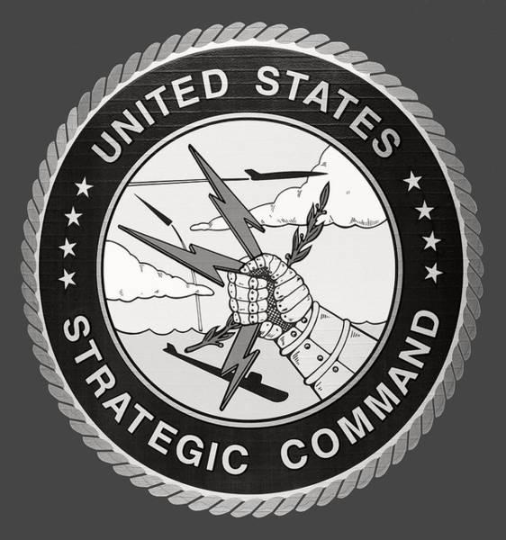 Wall Art - Photograph - Strategic Air Command Logo - T-shirt by Daniel Hagerman