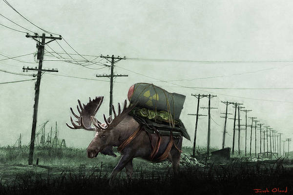 Mutants Mixed Media - Strategic Nuclear Moose - Fallout New Vegas by Joseph Oland