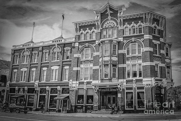 Photograph - Strater Hotel In Black And White by Janice Pariza