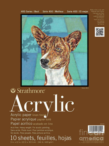 Painting - Strathmore 400 Series Acrylic Pad, Linen Finish, 6 by STRATHMORE Artist Papers