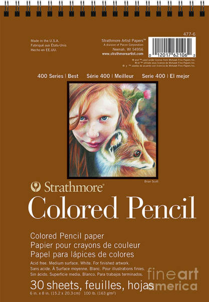 Painting - Strathmore 400 Series Colored Pencil Pad 9 by Strathmore