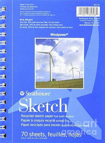 Painting - Strathmore Wind Power Sketch, 6.25 by STRATHMORE Artist Papers