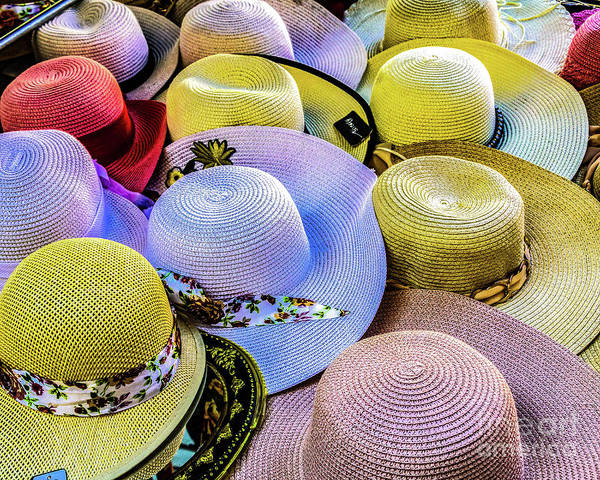 Photograph - Straw Hats by Thomas Marchessault