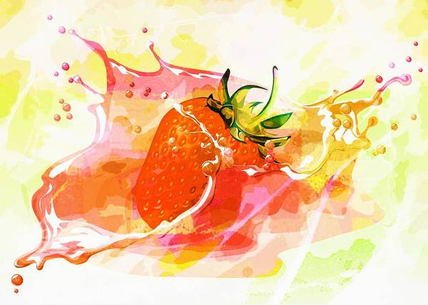 Wall Art - Painting - Strawberry by ArtMarketJapan