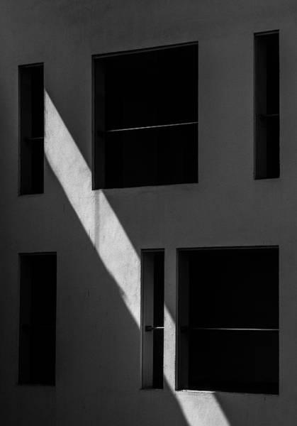 Photograph - Streak Of Light Vs Geometry by Prakash Ghai