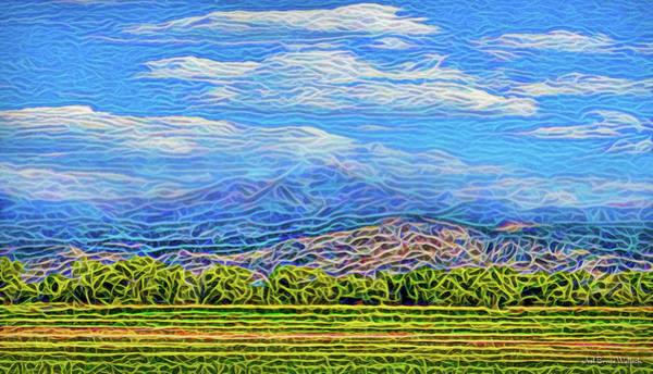 Digital Art - Streaming Meadow Day by Joel Bruce Wallach