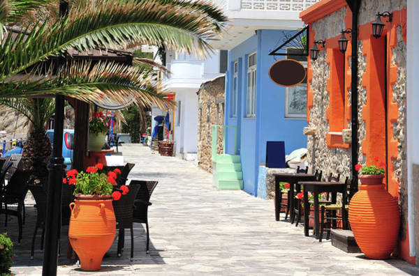 Wall Art - Photograph - Street Along The Beach At Mirtos In by Clubfoto