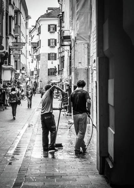 Photograph - Street Cleaners by Borja Robles