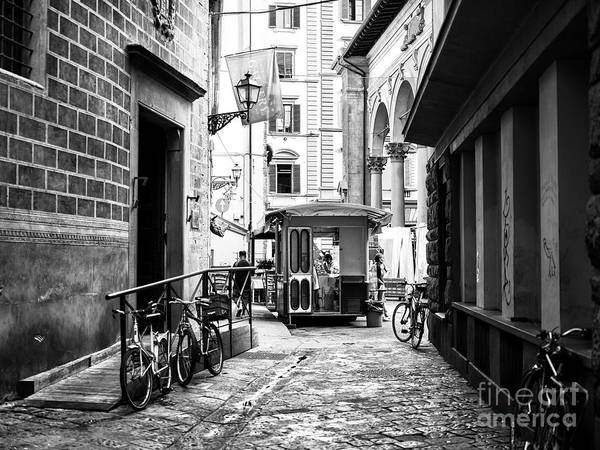 Photograph - Street Dining In Florence by John Rizzuto