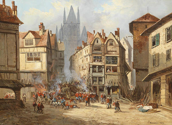 Painting - Street Fighting In Rouen by Alexandre Defaux