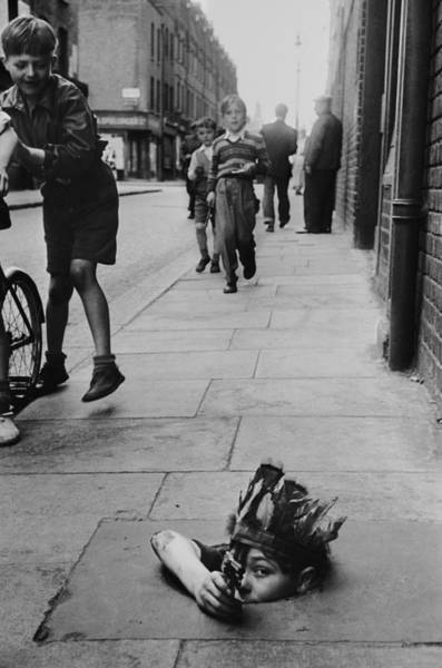 Hat Photograph - Street Games by Thurston Hopkins