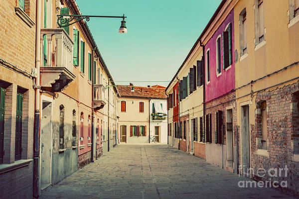 Wall Art - Photograph - Street In Burano, Italy On Sunny Day. by Michal Bednarek