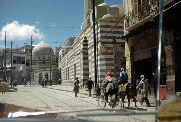 Damascus Photograph - Street In Damascus by Michael Ochs Archives