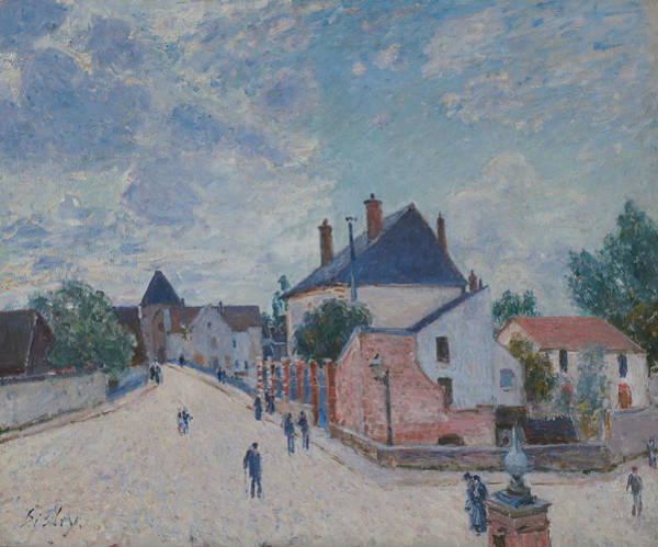 Wall Art - Painting - Street In Moret by Alfred Sisley
