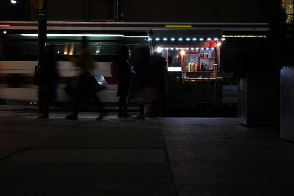 Service Dog Photograph - Street Meat At Night by Kreddible Trout