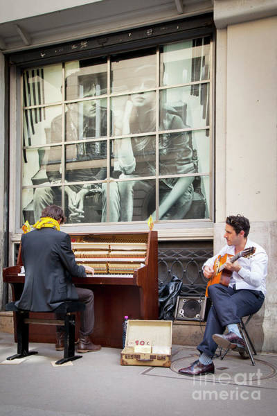 Busker Wall Art - Photograph - Street Musicians - Paris by Brian Jannsen