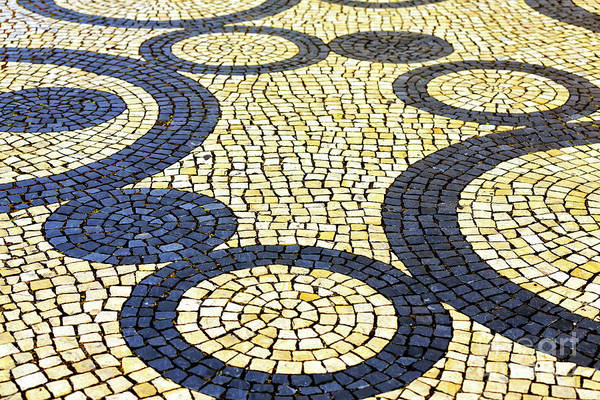 Photograph - Street Patterns In Aveiro Portugal by John Rizzuto