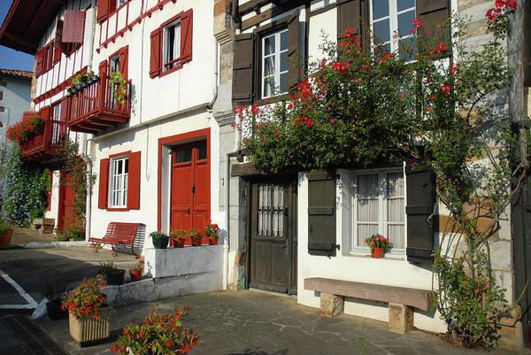 Pyrenees Photograph - Street Scene, Ainhoa by Josie Elias