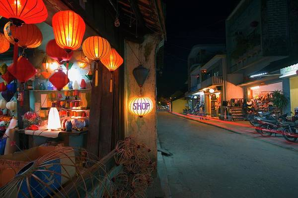 Quang Nam Province Photograph - Street Scene At Night In Hoi An, Vietnam by Design Pics