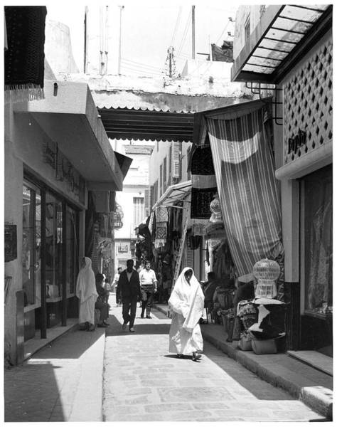 Tunisia Photograph - Street Scene Is Tunis by American Stock Archive