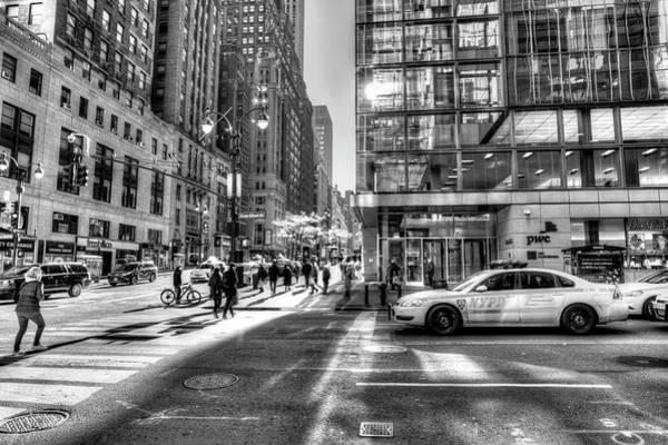 Wall Art - Photograph - Street Scene New York City by David Pyatt
