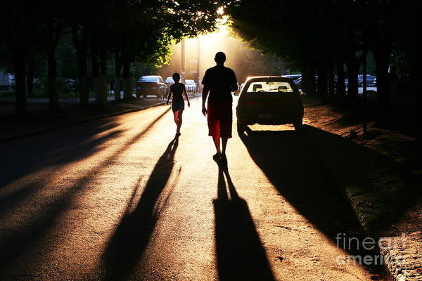 Dark Shadows Photograph - Street Scene On Sunset by Galyna Andrushko